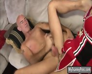 Cheerleading Tranny Kendra Sinclaire Ass Fucking With Coach - scene 8