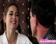 Tiny Riley Reid Releases Tension From Marco Banderas Shoulders - scene 1
