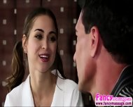 Tiny Riley Reid Releases Tension From Marco Banderas Shoulders - scene 2