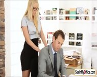 Secretary Vanessa Cage Likes To Make Her Boss Cum On Time - scene 3