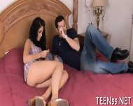 Teen Sucker Challenges A Cock - scene 3