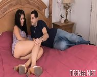 Teen Sucker Challenges A Cock - scene 4