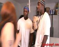 Horny Slut Violet Monroe Surrounded By Big Black Dicks - scene 1