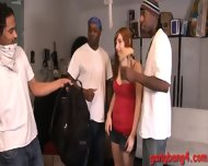 Horny Slut Violet Monroe Surrounded By Big Black Dicks - scene 4