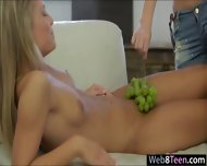 Two Naughty Teen Girls Girl On Girl Action On The Couch - scene 3
