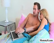 Pretty Teen Jessa Rhodes Horny Threesome With Busty Stepmom - scene 1