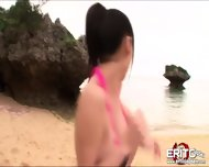 Yuris Large Tits Slams Together As She Gets Hardcore Fucking At The Beach - scene 2