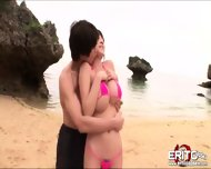 Yuris Large Tits Slams Together As She Gets Hardcore Fucking At The Beach - scene 3