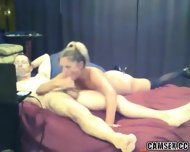 Blonde Slut With Black Stockings Gives Man A Long Blowjob - scene 12