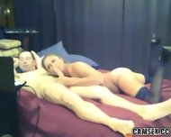 Blonde Slut With Black Stockings Gives Man A Long Blowjob - scene 5