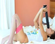 Brutal Dildo In Her Sticky Cunt - scene 4