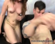 Whore Slobbers And Gags On Big Mean Cock - scene 12