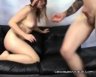Whore Slobbers And Gags On Big Mean Cock - scene 5