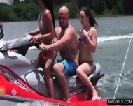 Two College Teens Happy To Suck A Cock On A Jet-ski - scene 1