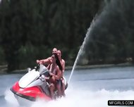 Two College Teens Happy To Suck A Cock On A Jet-ski - scene 2