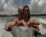 Two College Teens Happy To Suck A Cock On A Jet-ski - scene 3