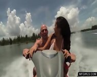 Two College Teens Happy To Suck A Cock On A Jet-ski - scene 4