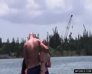 Two College Teens Happy To Suck A Cock On A Jet-ski - scene 5