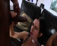 Two Monster Black Cock In Her Bottom - scene 9