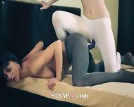 Elegant Hot Lesbians In Pantyhose - scene 10