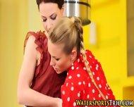 Glamor Lesbos Piss Drench - scene 5