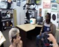 Perv Pawn Man Fucking Gf Of A Black Guy In The Backroom - scene 8