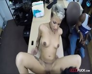 Perv Pawn Man Fucking Gf Of A Black Guy In The Backroom - scene 10