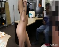 Perv Pawn Man Fucking Gf Of A Black Guy In The Backroom - scene 4