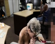 Perv Pawn Man Fucking Gf Of A Black Guy In The Backroom - scene 7