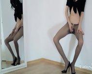 Horny 18yo Girl Teasing In Front Of Mirorr - scene 7