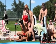Bisex Outdoor Anal Orgy - scene 9