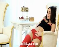 Brunette In Red Riding Sexy Vibrator - scene 2
