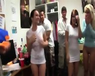 Group Of Horny Girls Loving On College - scene 5