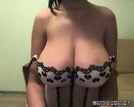 Huge Busty Tit Teen Babe Shows Of Her Huge Tits - scene 1