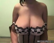 Huge Busty Tit Teen Babe Shows Of Her Huge Tits - scene 2