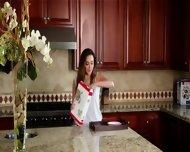 Elegant Brunette With Elegant Glass Toy - scene 3