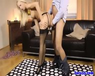 Mature In Stockings And Garter Belt Ffm - scene 1