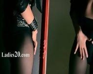Mysterious Pornstar Masturbates With Dildo - scene 1