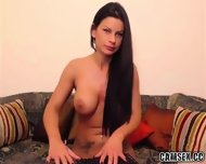 Busty Milf Strips And Rubs Her Pussy - scene 4