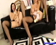 Glamour Matures In Stockings Rub Pussy - scene 11