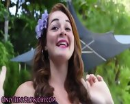 Redhead Teen Babe Blows - scene 3