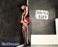 Clit Rubbing Glam Slut - scene 2