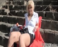 Sexy Amateur Blonde Eurobabe Pussy Fucked In The Park - scene 2