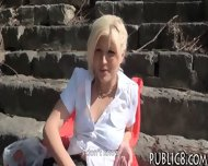 Sexy Amateur Blonde Eurobabe Pussy Fucked In The Park - scene 4