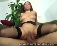 Gifted Brotha Makes Little Asia Suffer With His Massive Black Tool - scene 8
