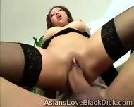 Gifted Brotha Makes Little Asia Suffer With His Massive Black Tool - scene 9