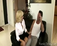 Naughty Milf Sits With Her Stepson To Know Him Better - scene 2