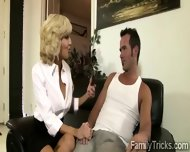 Naughty Milf Sits With Her Stepson To Know Him Better - scene 4