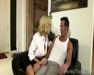 Naughty Milf Sits With Her Stepson To Know Him Better - scene 5