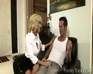 Naughty Milf Sits With Her Stepson To Know Him Better - scene 6